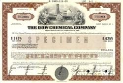 Dow Chemical Company 8.625% Debenture Specimen - Delaware 1978