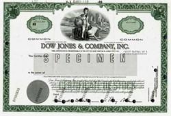 Dow Jones & Company, Inc. Specimen- Delaware 1989