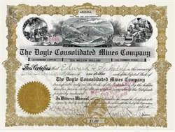 Doyle Consolidated Mines Company 1912 - Arizona