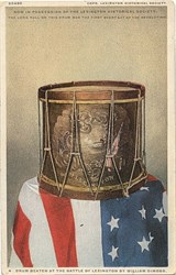 Drum Beaten at the Battle of Lexington by William Dimond Patriotic Post Card