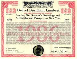 Drexel Burnham Lambert Convertible Security Christmas Card (Michael Milken)