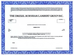 Drexel Burnham Lambert Group, Inc. (Michael Milken's Employer) - Delaware