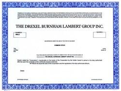 Drexel Burnham Lambert Group, Inc. (Michael Milken's Employer) - Delaware