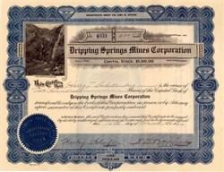 Dripping Springs Mines Corporation - Gila County, Arizona - 1923