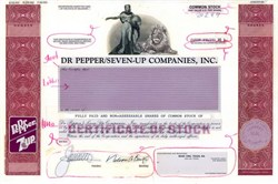 Dr. Pepper/Seven-Up Companies, Inc. Production Proof - Delaware 1992