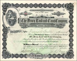 Drury Land and Canal Company 1896