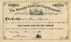 Durango Land and Coal Company (RARE) - Colorado Springs, Colorado 1913