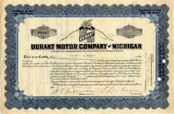 Durant Motor Company of Michigan - Michigan 1923