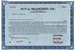 Dun & Bradstreet Corporation Voting Trust Certificate - Delaware 1961