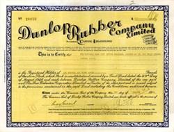 Dunlop Rubber Company - Famous Tire company