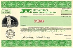 Duff & Phelps Selected Utilities Inc. - Maryland