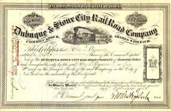 Dubuque & Sioux City Rail Road Company - Iowa 1874