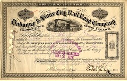 Dubuque & Sioux City Rail Road Company - Iowa 1878