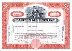 Eastern Air Lines Stock Certificate - 1959