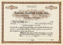 Eastern Baseball Club, Inc - Maryland