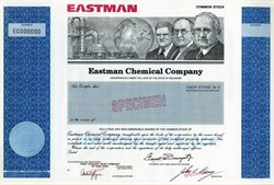 Eastman Chemical Company RARE Specimen (spun off from Eastman Kodak in 1994) - Delaware 1994