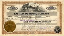 East Divide Mining Company - Tonopah, Nevada.  Esmeralda.  Divide. 1919