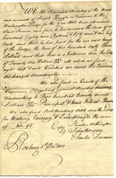 RARE - Early Handwritten Auditors Report - Roxbury, Massachusetts - 1802