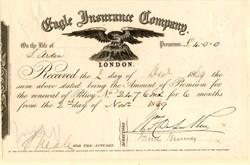 Eagle Insurance Company - England 1869