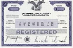 Eastman Kodak Company (Pre Bankruptcy) Specimen   - New Jersey 1990