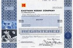 Eastman Kodak Company (Pre Bankruptcy) Specimen - New Jersey 1983
