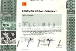 Eastman Kodak Company (Pre Bankruptcy) Specimen - New Jersey 1984