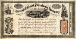 East Oil Creek Petroleum Company - Brooklyn, New York 1865