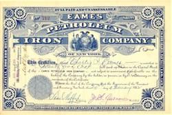 Eames Petroleum Iron Company - Titusville, Crawford County, Pennsylvania 1882