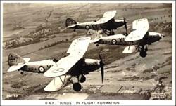 Early Bi Plane Photo Postcard in Formation