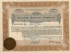 Eatonic Remedy Company ( Medical Tablet Fraud)  - Delaware 1917