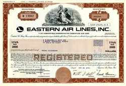 Eastern Air Lines, Inc. High Yield Bond Certificate (Sold by Michael Milken, Junk Bond King) - NASA Astronaut Frank Borman as Chairman