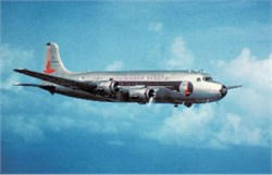 Eastern Airlines postcard DC-4