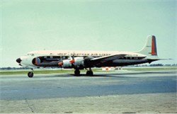 Eastern Airlines postcard Douglas DC 7-B