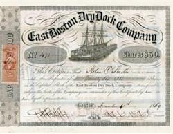 East Boston Dry Dock Company (Became Bethlehem Shipbuilding ) - Boston, Massachusetts - 1856