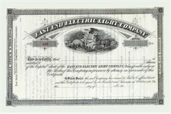 East End Electric Light Company 1890's - Pittsburgh, Pennsylvania