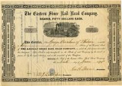 Eastern Shore Rail Road Company - Maryland 1875