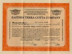Eastern Terra Cotta Company - New Jersey 1935