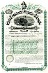 East Tennessee, Virginia and Georgia Railroad Gold Bond - 1890