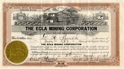 Ecla Mining Corporation - Arizona 1921