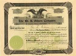 Ed. A. Gibson Company - Butler, Pennsylvania 1909