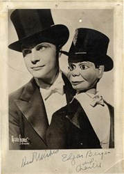 Edgar Bergen and Charlie signed photograph