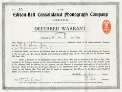 Edison-Bell Consolidated Phonograph Company - 1904