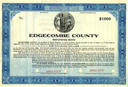 Edgecombe County Refunding Bond - North Carolina 1935