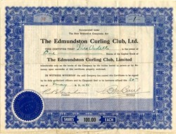 Edmundston Curling Club, Ltd. - New Brunswick 1945