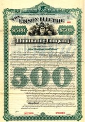 Edison Electric Illuminating Company - New Jersey 1892