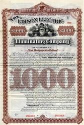 Edison Electric Illuminating Company - New Jersey 1892