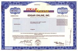 Edgar Online, Inc. - Securities and Exchange Commission data