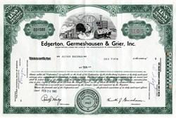 Edgerton, Germeshausen & Grier, Inc. (Atomic Energy Commission Contractor) - Massachusetts 1965