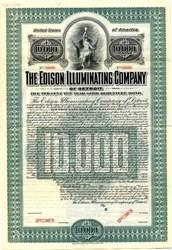 Edison Illuminating Company of Detroit (Bare breasted maiden vignette)- 1905