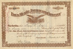 Eden Musee American Company Limited ( New York's answer to Madame Tussaud's) - New York 1887